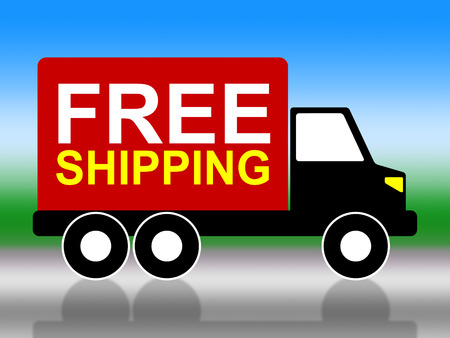 compliments: Shipping Truck Showing Free Of Cost And With Our Compliments