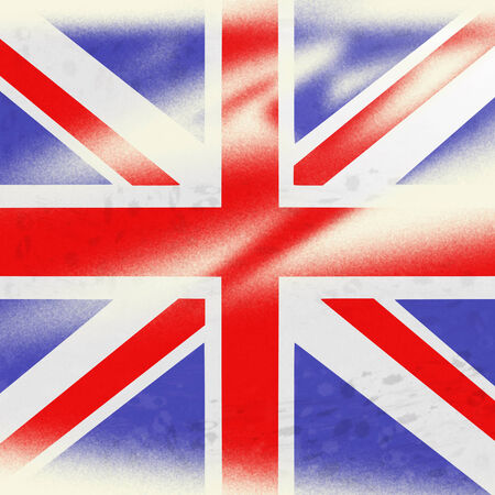 Union Jack Representing English Flag And Kingdom Stock Photo