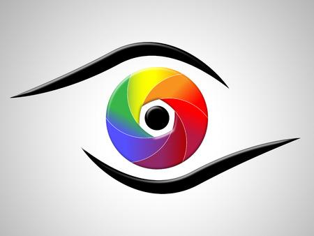 Eye Aperture Vertegenwoordigen Color Swatch en chromatische