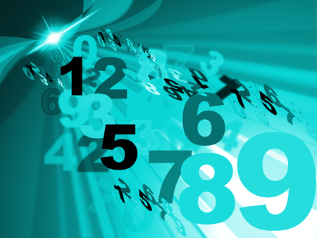 numeracy: Background Numbers Indicating Numeracy Counting And Numeric Stock Photo