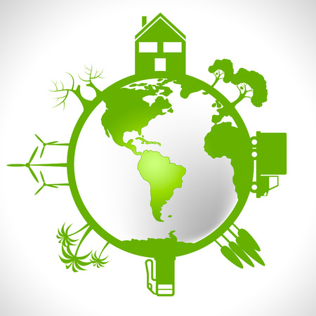 earth friendly: Eco Global Meaning Earth Friendly And Environmentally Stock Photo