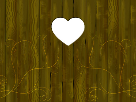 panelling: Copyspace Panelling Showing Valentines Day And Timber Stock Photo