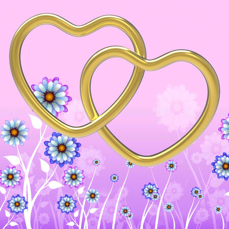 Wedding Rings Meaning Heart Shape And Jewelry Stock Photo