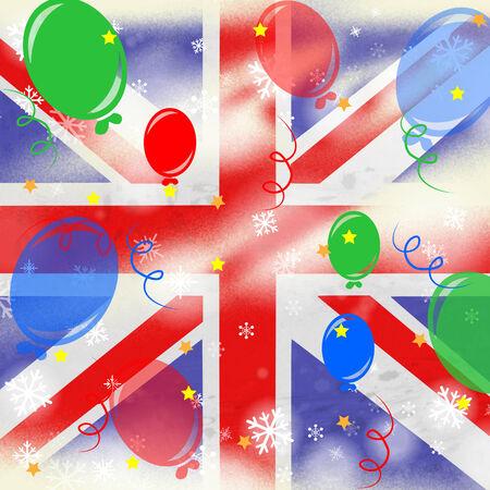 drapeau anglais: Union Jack Flag indiquant anglais et D�coration Banque d'images