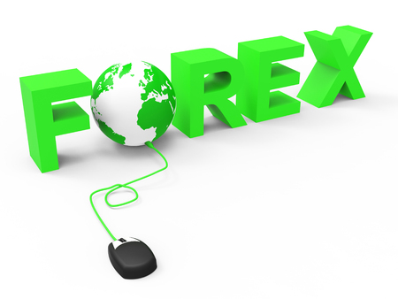 currency exchange: Forex Global Representing World Wide Web And Currency Exchange Stock Photo