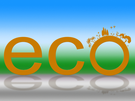 earth friendly: Word Eco Showing Earth Friendly And Scenic