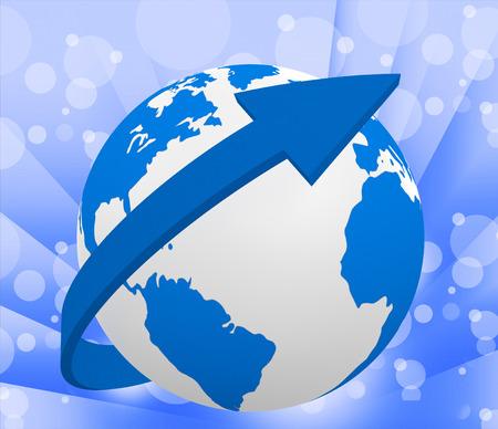 planetarnych: Kula ziemska Wskazanie Układ Słoneczny i Planet
