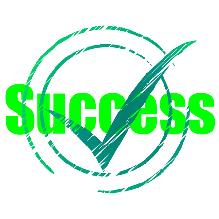 confirmed: Success Tick Indicating Progress Confirmed And Passed