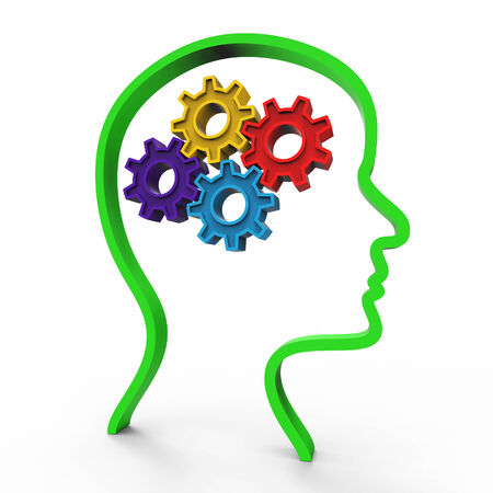 consider: Think Brain Meaning Contemplate Consider And Reflection