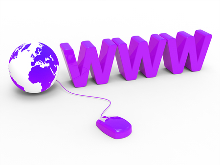 Internet Www Showing World Wide Web And Web Site Stock Photo