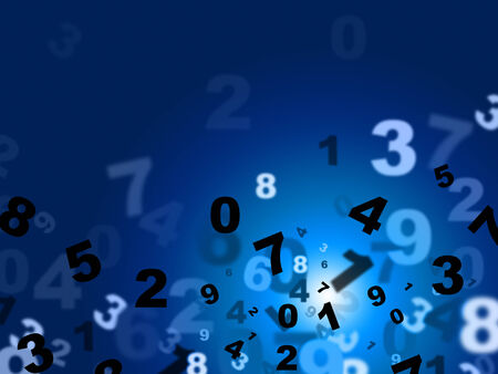 numeracy: Blue Mathematics Indicating High Tec And Electronic