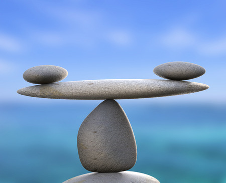 Spa Stones Showing Perfect Balance And Wellness