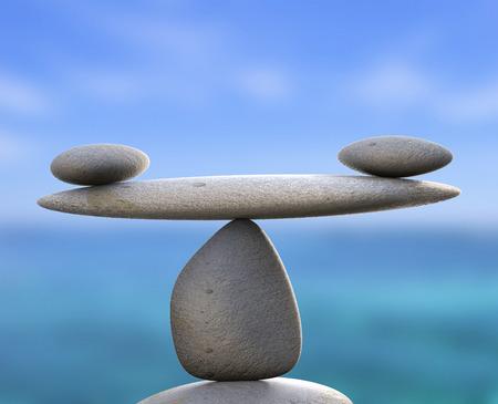 Piedras del balneario Mostrando perfecto equilibrio y bienestar Foto de archivo - 29566618