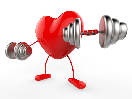 Weights Heart Meaning Valentines Day And Gym Stock Photo