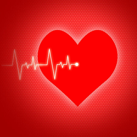 preventive: Heart Pulse Showing Preventive Medicine And Wellbeing