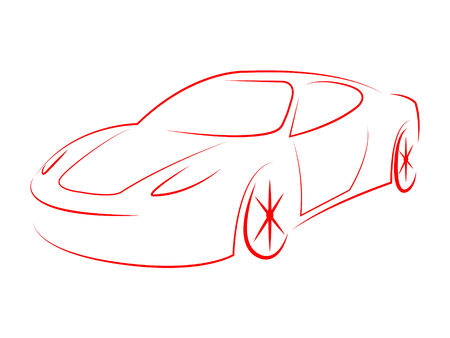 Sportscar Modern Meaning Powerful Performance And Illustration