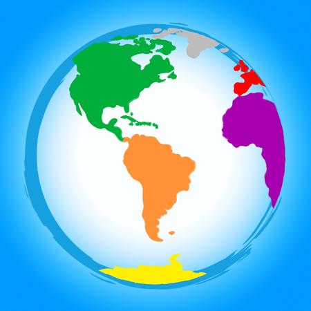 globally: Global Colourful Showing Globally Globe And Globalise Stock Photo