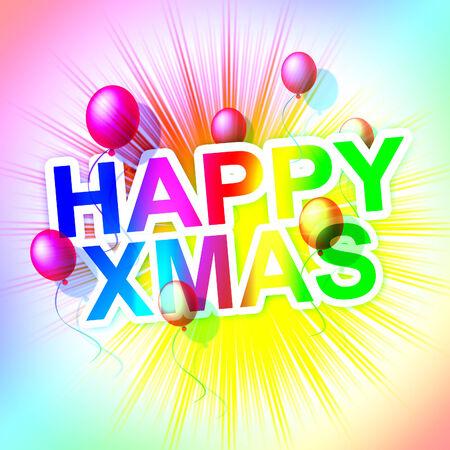 happy xmas: Happy Xmas Indicating Merry Christmas And Parties
