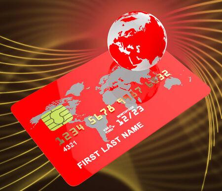bankcard: Credit Card Indicating Global Bankcard And Globalisation