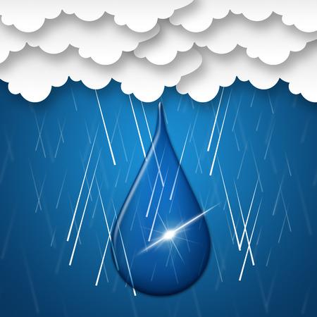 Rain Drop Representing Washing Line And Hanging photo