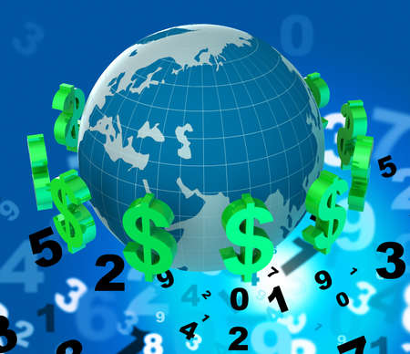 fx: Dollars Forex Showing Worldwide Trading And Foreign Stock Photo
