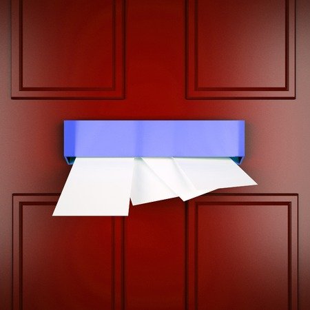 mailed: Mail Letters Indicating Envelope Sending And Communication Stock Photo