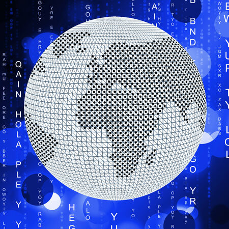 globally: Matrix Global Indicating Digital Code And Globally Stock Photo