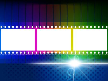 light burst: Glow Farbe steht f�r Licht brach und die Film-Rolle