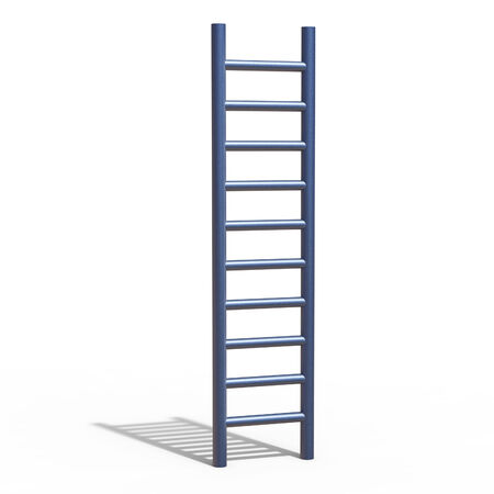 triumphant: Ladder Climb Meaning Victors Triumphant And Prevail Stock Photo