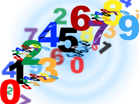 Numbers Maths Indicating Numeric Background And Count