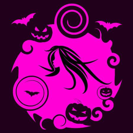 Bat Pumpkin Indicating Trick Or Treat And Halloween Icons