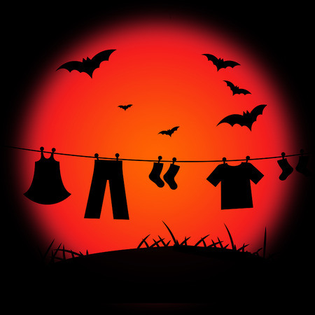 Halloween Background Meaning Trick Or Treat And Fruit Bat photo