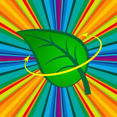 earth friendly: Nature Leaf Representing Earth Friendly And Scenic