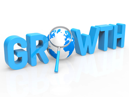 financial growth: Financial Growth Indicating Finances Develop And Magnification