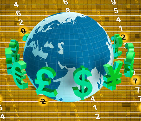 foreign currency: Forex Pounds Representing Foreign Currency And Finance