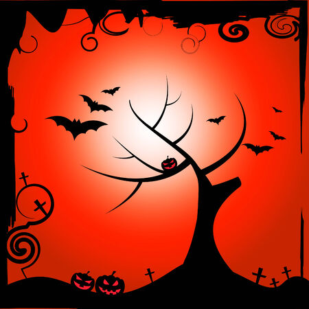 reforestation: Bats Halloween Representing Trick Or Treat And Treetop Reforestation