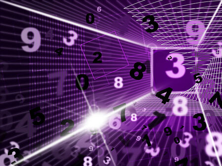 numeracy: Mathematics Numbers Representing High Tec And Numeracy