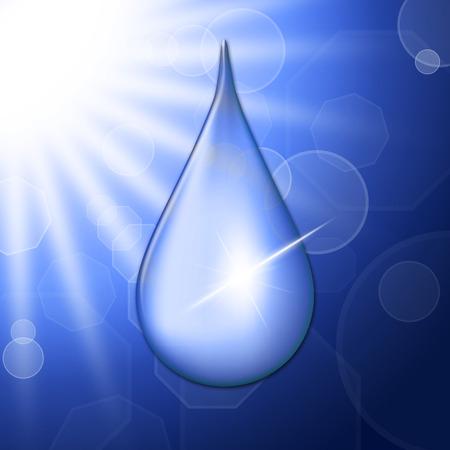 precipitation: Rain Drop Representing Sun Rays And Precipitation
