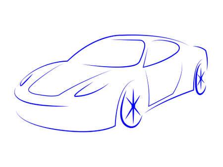 autosport: Sportscar Modern Indicating Automotive Autoshow And Sports-Car