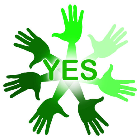 affirm: Hands Yes Representing Palm Agreement And Allright