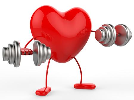 Fitness Gewichten Betekenis hart vormen en Affection Stockfoto
