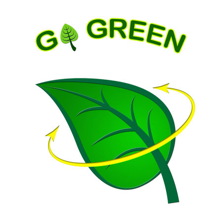 earth friendly: Go Green Showing Earth Friendly And Recyclable