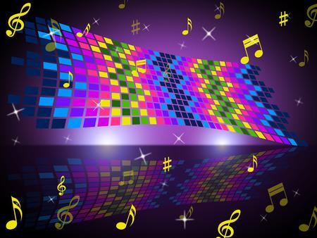 clave de fa: Notas color que indica Bass Clef y compositor