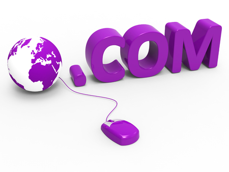 dot com: Dot Com Meaning World Wide Web And Web Site Stock Photo