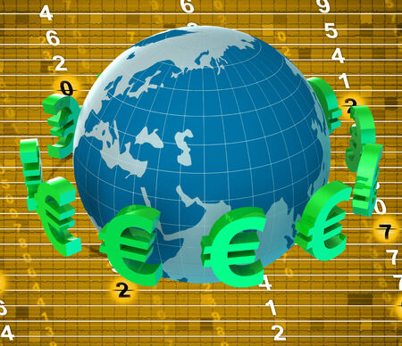 foreign currency: Forex Euros Representing Foreign Currency And Broker