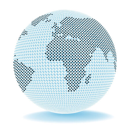 globally: Globe World Meaning Exporting Globally And Ecommerce Stock Photo