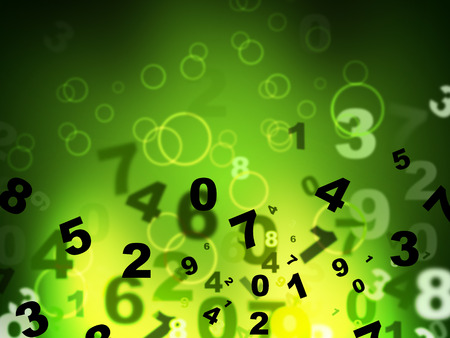 tec: Numbers Green Representing High Tec And Technology