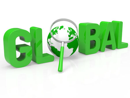 Magnifier Global Representing Globally Earth And World photo