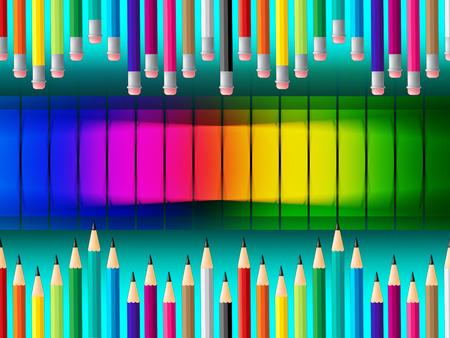 lernte: Bleistifte Bildung darstellt gelernt erziehen und Farben Lizenzfreie Bilder