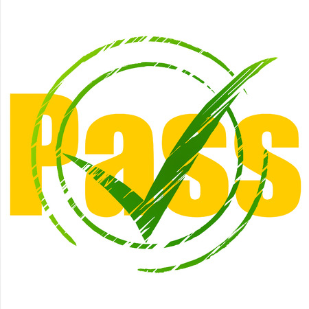 endorsed: Tick Pass Meaning Passing Approve And Approval